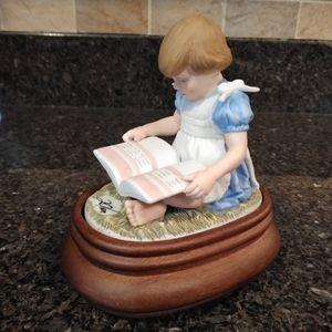 Willits galleries girl reading book musical figuri